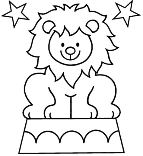 free printable circus clip art sketch coloring page