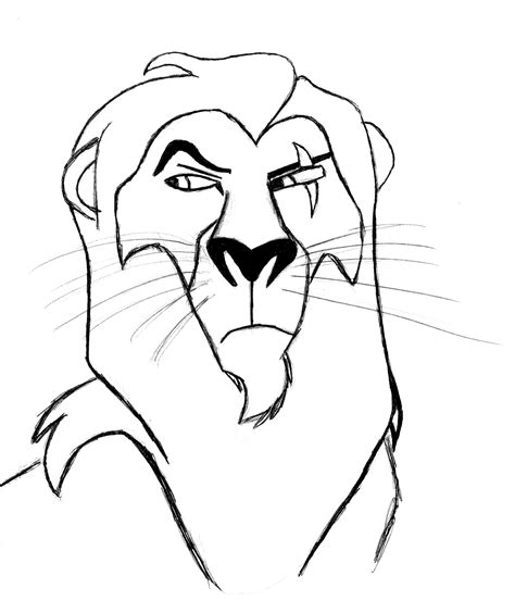 how to colour in a scar in your hairline image gallery lion king scar drawings