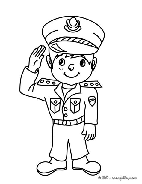 dibujos para colorear de policias a policeman colouring pages
