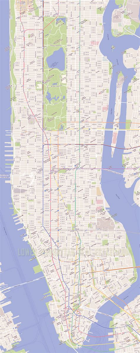 map of manhattan nyc detailed road map of manhattan nyc manhattan nyc detailed