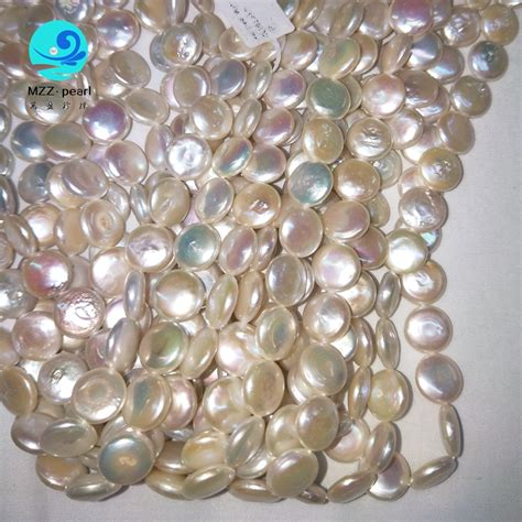 pearl wholesale 12mm coin pearls white freshwater pearl flat coin