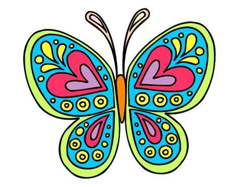 imagenes de mandalas mariposas dibujo mandala mariposa pintado por eliana 02 mariposas