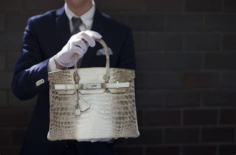 Tas Hermes Birkin Croco Nilo Himalaya 8 world s most expensive handbag sells for jaw dropping price at auction aol lifestyle