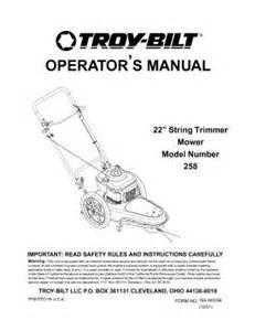 25a258d063 troy bilt 22 inch string trimmer mower 5 hp
