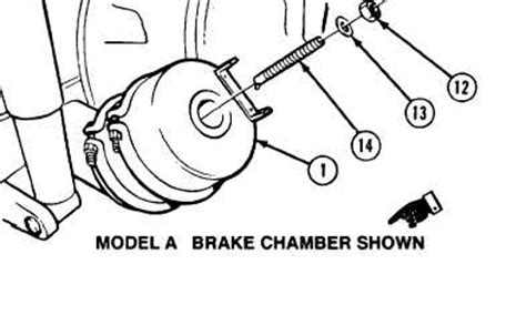 air brake chamber diagram 11 9 rear brake chamber and rear arctic brake chamber