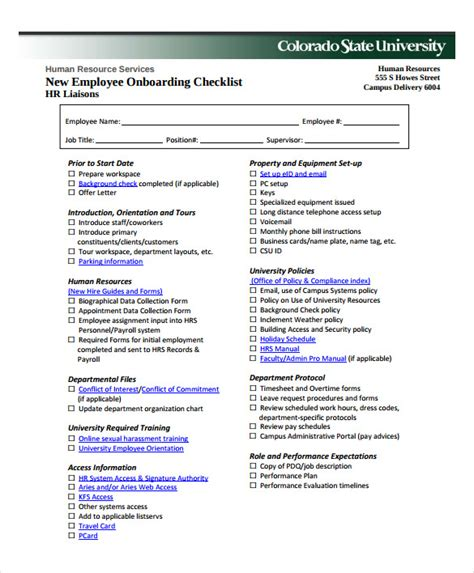 to recruit new staff template new hire checklist sle 13 documents in pdf