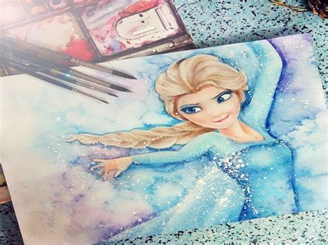painting elsa and elsa from frozen painting
