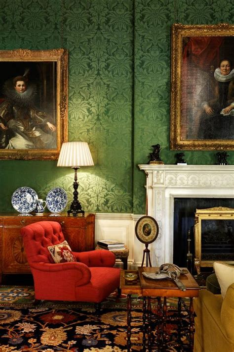 incredible damask chair living room furniture decorating 27 daring red and green interior d 233 cor ideas digsdigs