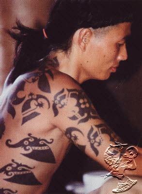tato dayak modern nina s blog art of body painting dayak tribe