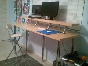 wide standing desk ikea hackers ikea hackers