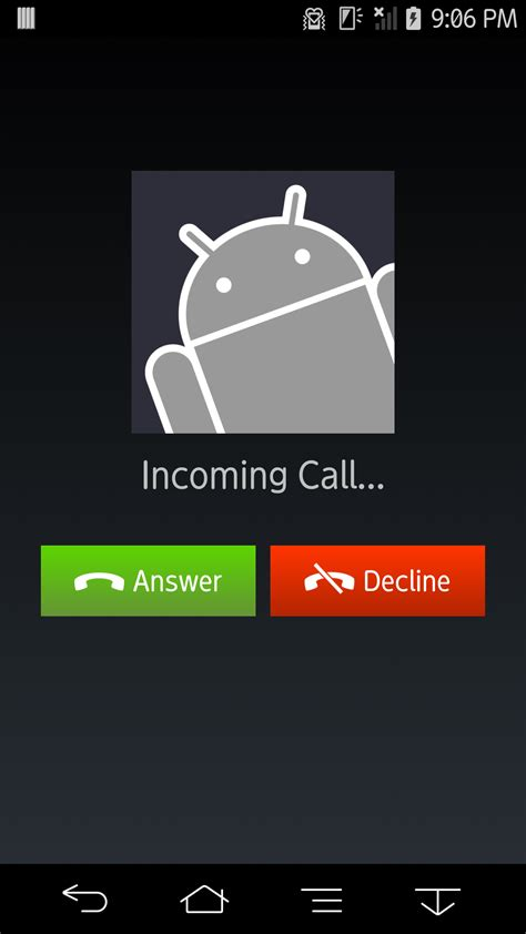 android call screen image gallery incoming call screen