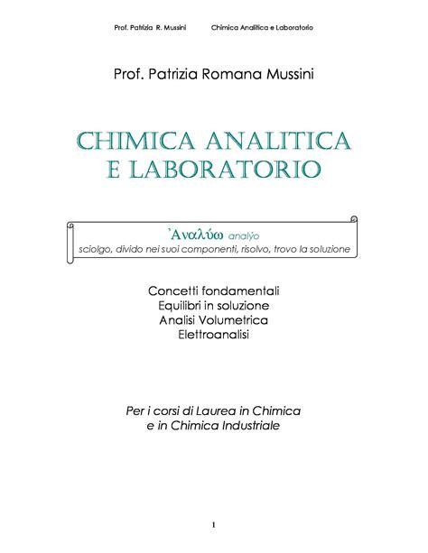 Chimica Analitica Dispense by Elementi Di Termodinamica Chimica Dispense