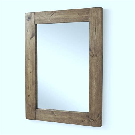Wood Framed by Chunky Wood Framed Mirrors By Horsfall Wright Notonthehighstreet