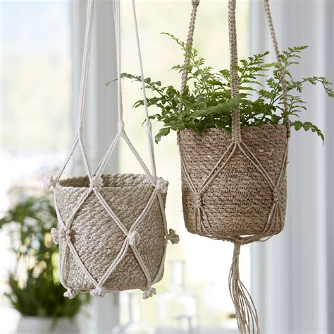 Macrame Uk - macrame sisal pot hanger tutti decor ltd