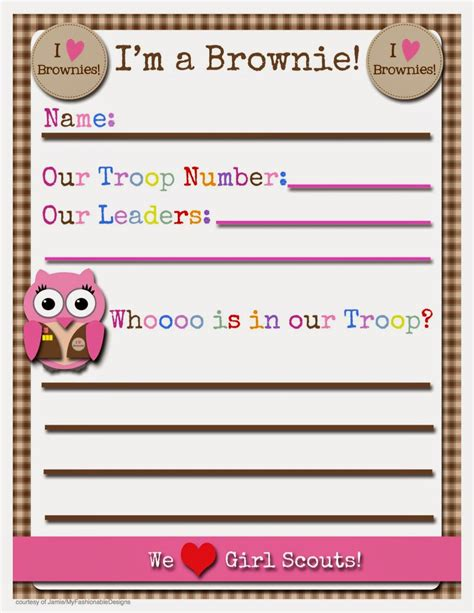 Scout Printables