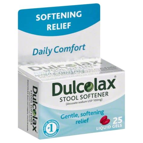 Can You Take Stool Softeners With Laxatives by Dulcolax Stool Softener 25 Count