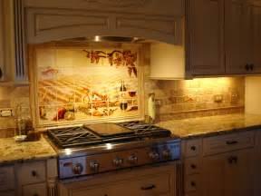 Backsplash tile art home design examples