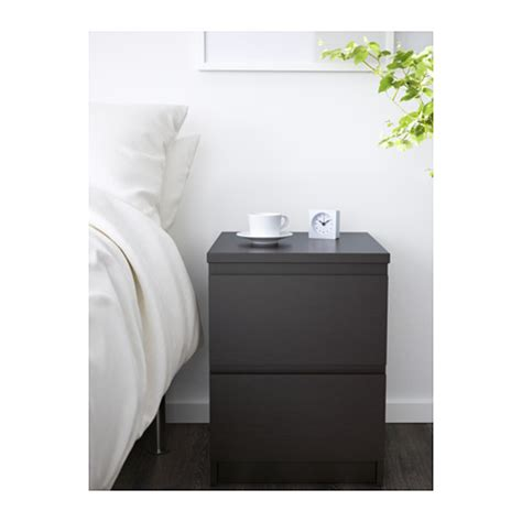 comodino malm ikea malm chest of 2 drawers black brown 40x55 cm ikea