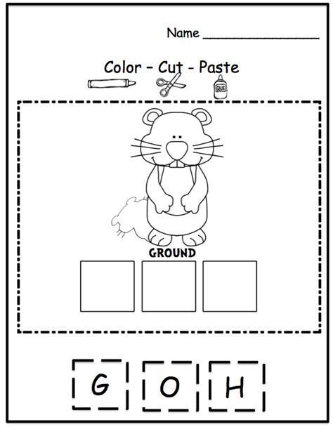 groundhog day kindergarten worksheets 7 best images of groundhog day worksheets kindergarten