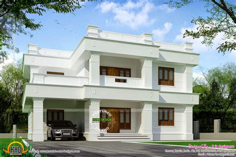 flat roof house designs plans flat roof 305 square yards house kerala home design and floor plans