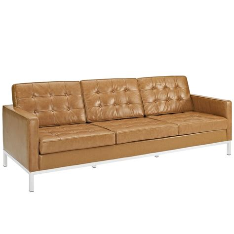 tan leather sectional sofa bateman leather sofa modern furniture brickell collection