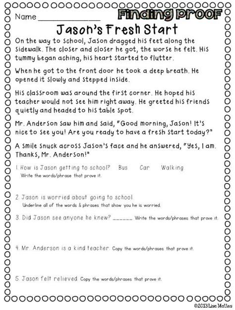 Citing Evidence Worksheet by Finding Proof Citing Evidence Inferring Word Meaning