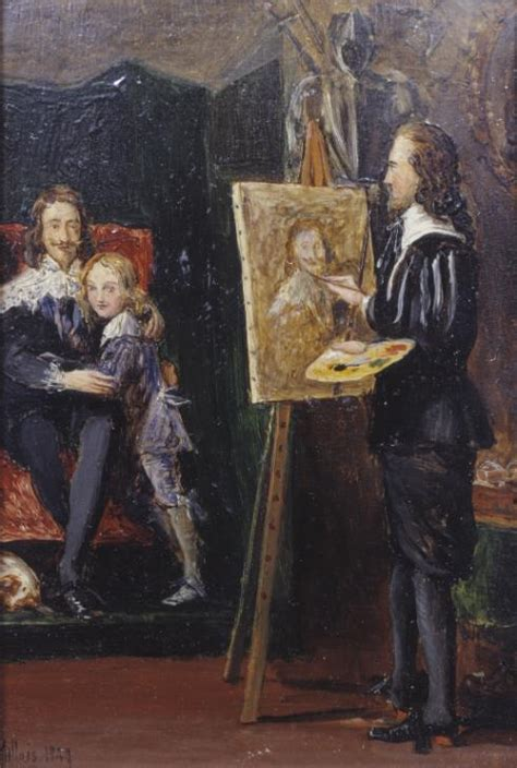 R S Painting by Charles I And His In The Studio Of Dyck Sir