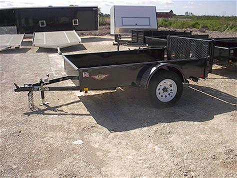 Dump Bed Trailer Badger Trailer And Power Single Axle Utility Trailers