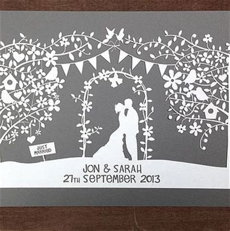 wedding papercut template personalised wedding papercut wedding papercut and products