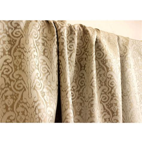 gold pattern curtain fabric beige gold pattern grommet blackout lined curtain in jacquard