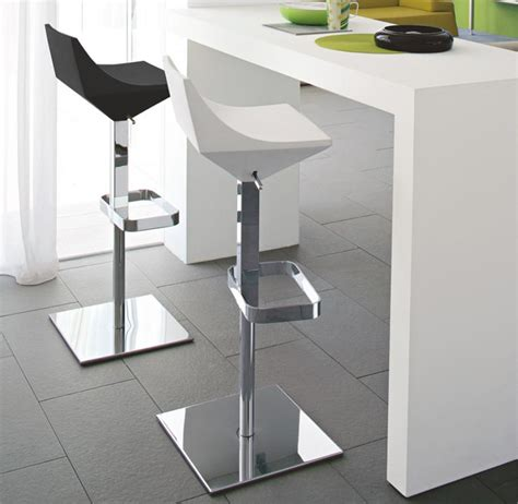 modern white bar calligaris contemporary fly bar stool in red white or