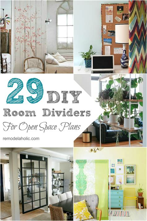 diy room divider ideas remodelaholic 29 creative diy room dividers for open