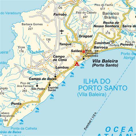porto map mapa porto santo portugal mapas plano callejero y gu 237 a