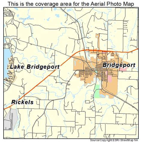 texas location map aerial photography map of bridgeport tx texas