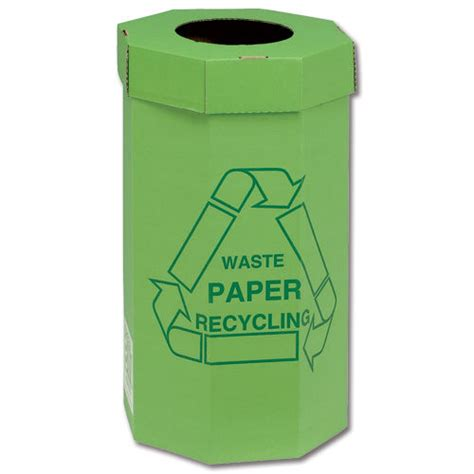 L Recycle Boxes by 5 Acorn Large Cardboard Green Paper Recycling Bins 60