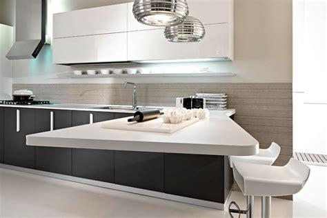 Agradable  Encimeras Cocinas Blancas #7: Cocina-moderna-con-barra-americana.jpg