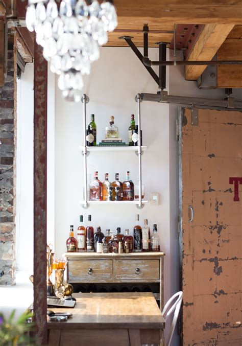 decant blog industrial chic diy for less industrial chic bar me and mr jones