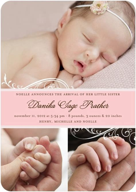 baby announcement with birth announcements