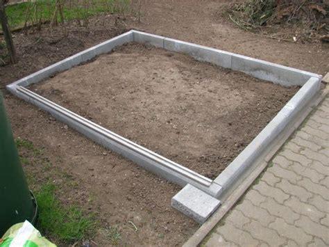 fundament f 252 r gartenhaus ohne beton my