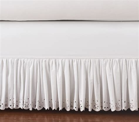 Pottery Barn Bed Skirts by Eyelet Bed Skirt Pottery Barn