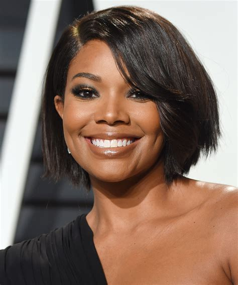 best unions gabrielle union just chopped hair into the bob we all