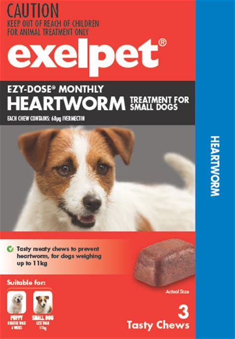 heartworm meds for dogs exelpet ezy dose monthly heartworm treatment for dogs reviews productreview au
