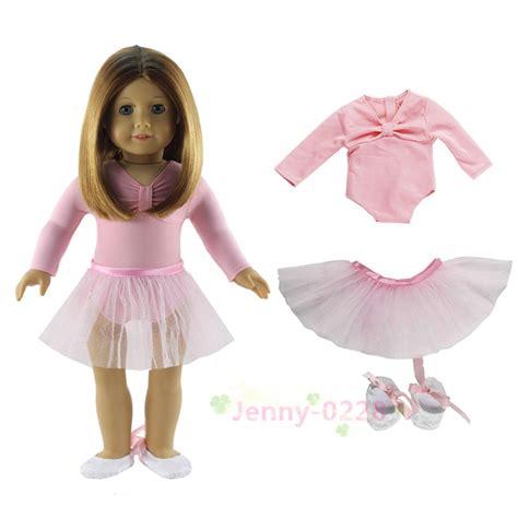J12087 3 In 1 Set Dress pink ballet dress 3in1 set doll clothes top skirt