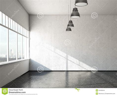 white loft white loft room with windows stock images image 34406644