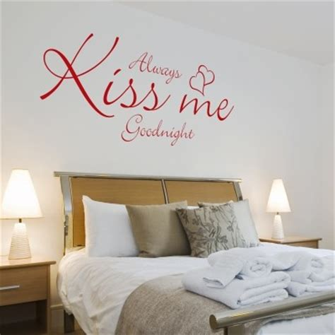 Always Kiss Me Goodnight Wall Stickers i migliori wall stickers con frasi famose stickers murali