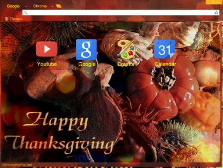 Thanksgiving Theme For Google Chrome | happy thanksgiving themes for chrome firefox explorer