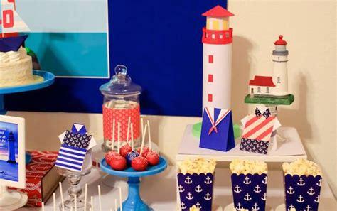 lighthouse themed decorations kara s ideas nautical lighthouse themed birthday
