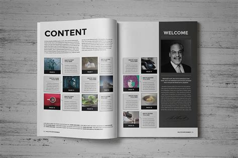 magazine brochure indesign templates on behance