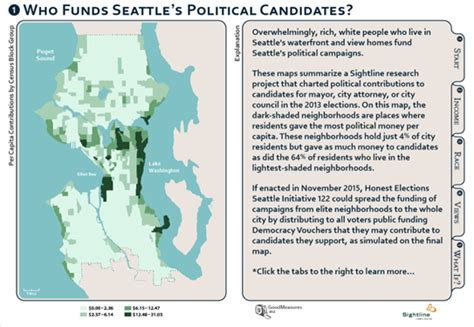 seattle interactive map interactive map who funds seattle s political candidates