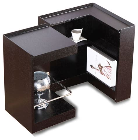 modern end table with storage modern wenge veneer end table with storage and bar modena
